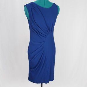 Eva Franco thia pleated dress cobalt blue 8